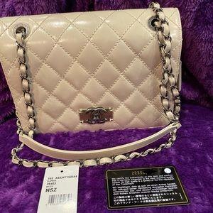Chanel Glazed Calfskin Quilted Flap Beige